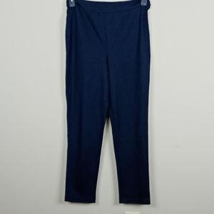 Joan Rivers blue/black herringbone skinny pants